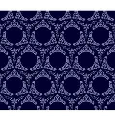 seamless wallpaper background vintage blue black vector image