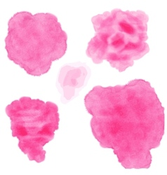 Set of watercolor blobs vector image