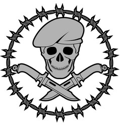 Symbol of special forces second variant vector