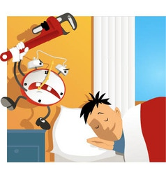 Wake up vector image vector image