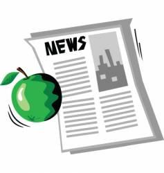 apple news vector image