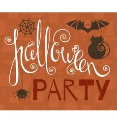 Halloween party vintage poster vector image vector image