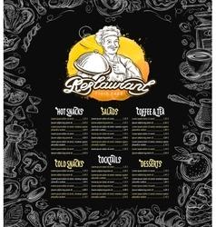 restaurant brochure menu cafe template vector image vector image