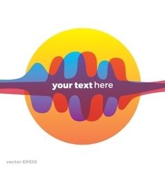 Sound wave symbol logo Colorful gradient vector image vector image