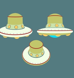 UFO unidenty object from outer space in retro sty vector image vector image