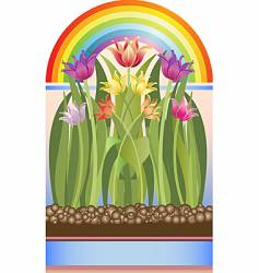 welcome spring vector image