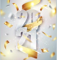 2021 happy new year elegant background vector image