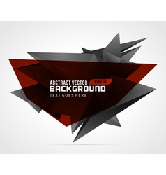 Abstract geometric 3d red shape background vector