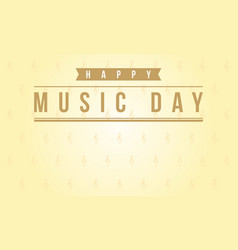Art of music day style vector