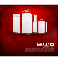 Background with box vector image
