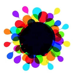 balloon frame vector image