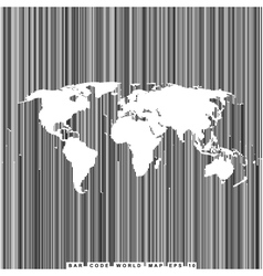 bar code line world map vector image