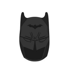 Black mask flat vector