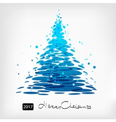 Blue Christmas tree art vector image