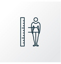 body measurement icon line symbol premium quality vector image