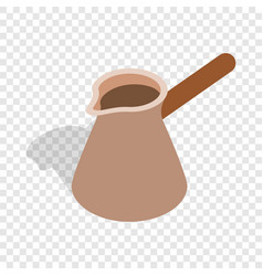 brown coffee cezve isometric icon vector image