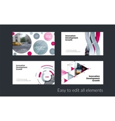 Business card template with yellow soft vector