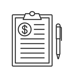 business contract linear icon vector image