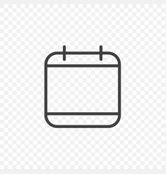 calendar icon on a transparent background easy vector image