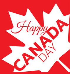 canada day poster canadian flag vector image
