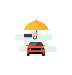 Car insurance logo concept protect icon vector