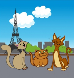 cartoon French pets vector image