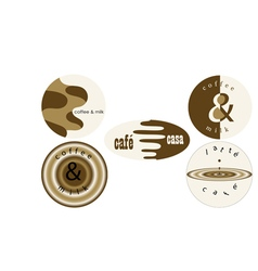 Coffee labels vector