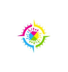 compass paint logo icon design vector image