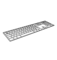 Computer keyboard outline vector