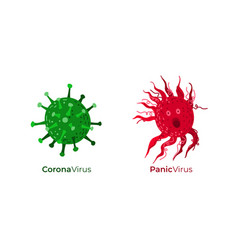 Corona virus together with panic virus caused by vector