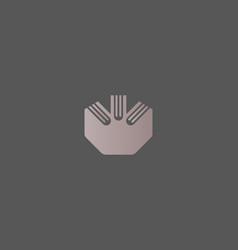 creative idea crown book logotype royal education vector image