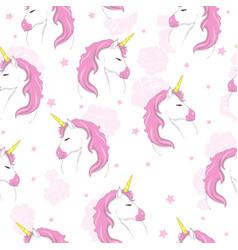 Cute unicorn pattern vector