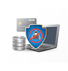 Data protection shield vector