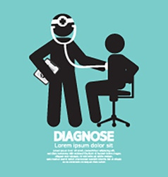 Doctor With Patient Diagnose Concept Black Symbol vector