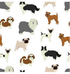 dog pattern geometric style vector image