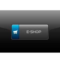E-Shop Button vector image
