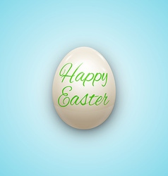 Easter Egg witnh Text Isolated on White vector