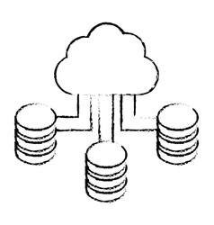 Figure cloud hosting data center vector