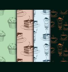 food sketch natural menu restaurant fresh vector image