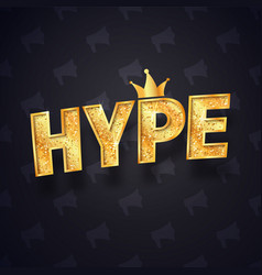 gold hype text isolated logo with joker vector image