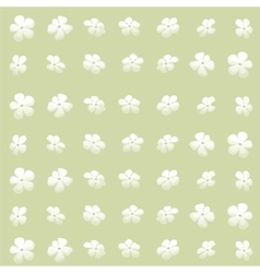 Green background with flowers bud vector