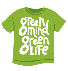 Green phrases about ecology vector