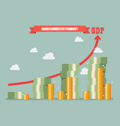 gross domestic product vector image