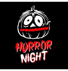 Halloween pumpkin horror night vector
