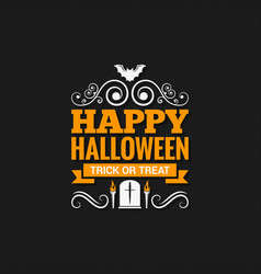 happy halloween vintage design background vector image