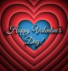 Happy Valentines Day retro background vector image