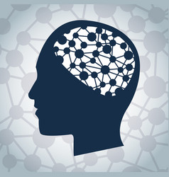 human head brain mind image vector image