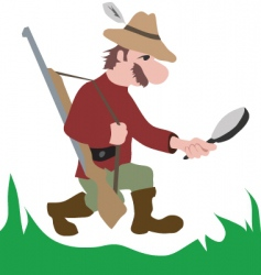 hunter vector image