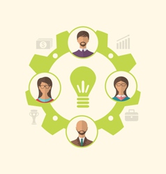 idea of teamwork and success business people vector image