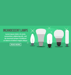 Incandescent lamps banner horizontal concept vector